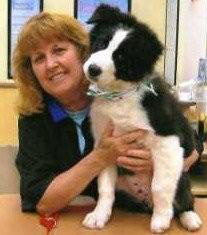 image of Bev with dog she groomed